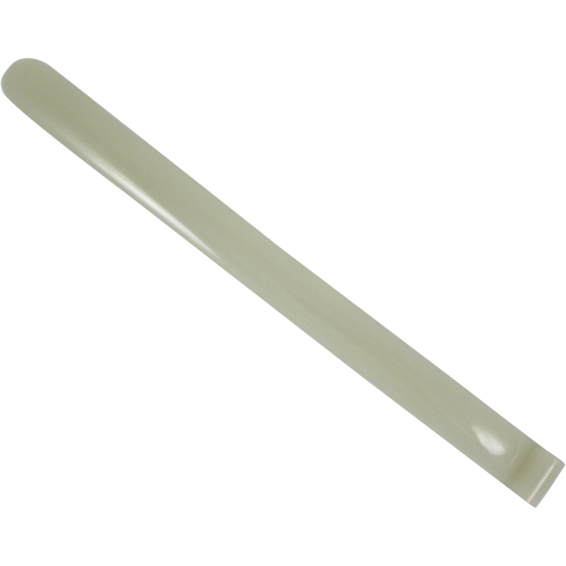 Chinese White Jade Page Turner with a Pierced Spiral Terminal, 9-1/2 inches Long