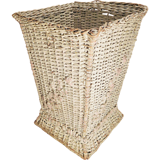 Wicker Basket,1910's Barbola Roses