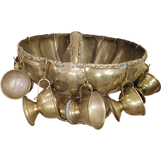 Punch Bowl, Brass ,Handcrafted