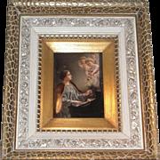KPM Porcelain Plaque Depicting Saint Cecilia
