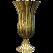 Josef Hoffmann Brass Vase for Wiener Werkstatte