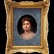 KPM Plaque Depicting Prussian Queen Luise (Louise)