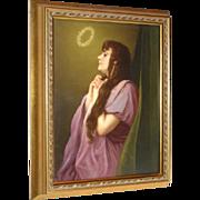 "KPM Portrait Plaque of ""The Vision"" After Cornelius Ritter von Max (1840-1915)"