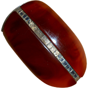 French Art Deco Early Plastic Fur Clip