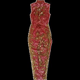 Sequin Dress Pink Cheongsam Asian Maxi Pageant Frock