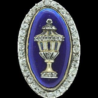 A Magnificent Georgian 2ct Old Mine Cut Diamond Urn Ring Circa 1790's