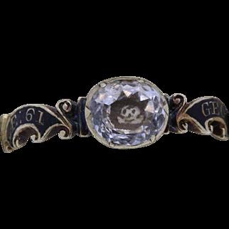 A Stunning Georgian Crystal Skull & Enamel Band Dated 1749