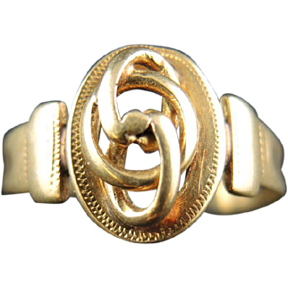 Antique 18kt Gold French Victorian Ring - 19th Century