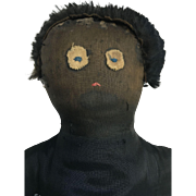 Early black primitive doll