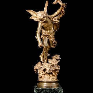 """Lutin des Bois"" patinated bronze sculpture by Italian sculptor Luca Madrassi"