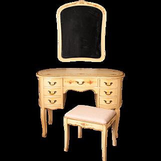 "12 Piece ""Venetian Floral Scroll"" Vintage Bedroom Set Suite"
