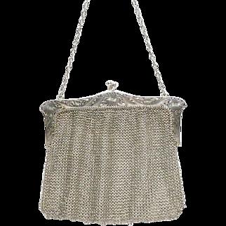 Sterling Silver Mesh Bag Ernst Gideon Bek 1916 Art Nouveau