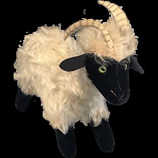 "Steiff Snucki - Vintage Germany 8"" Ram Stuffed Toy"