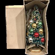 Vintage Bottle Brush Small  Christmas Tree - Original Box - Made in Japan