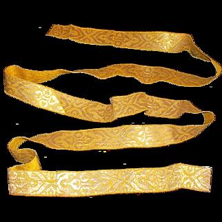 French never used metallic trim gold/bronze 19th century