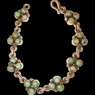 Navajo Cripple Creek Turquoise Sterling Silver bracelet