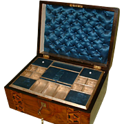 Tunbridge Ware Style Inlaid Jewellery Box. C1880