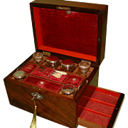 Fully Fitted Inlaid Vanity – Jewellery Box. C1870