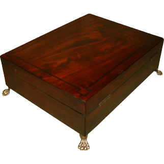 Georgian Inlaid Mahogany Unisex Jewellery Box c 1810