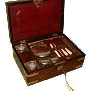 Brass Bound Gentleman's Dressing – Jewellery Box c 1840.