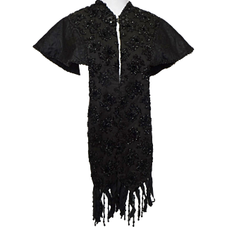 Antique Beaded Victorian Mourning Cape