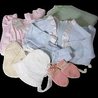 Vintage Infant Clothing and Wool Blanket