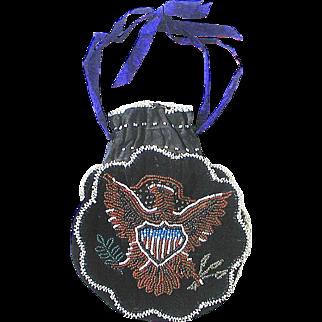 Eagle Beaded Bag