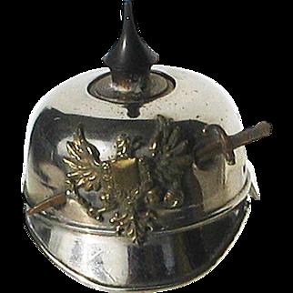 WW1 German Helmet Ink Well