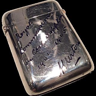 1904 London coal mining silver/ enamel vesta.