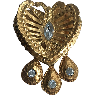 heart brooch pin Christian Lacroix