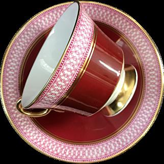 Cup and Saucer Set, Adderley, England