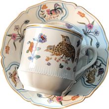 Cup and Saucer Set, Haviland Limoges France, 'Golden Quail'