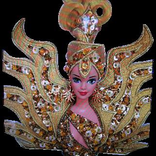 Goddess of the Sun Fabulous Sequined Bob Mackie Design Barbie 1995 ~ NRFB and Shipper Box