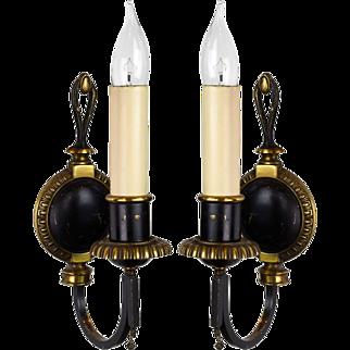 Bradley & Hubbard Brass Sconce Pair