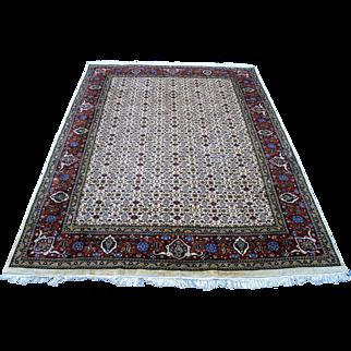 8.7'x'11.7' Persian Bidjar Hand-knotted area rug.