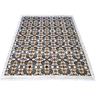 6.10' x 9.3' Oushak hand-knotted wool rug