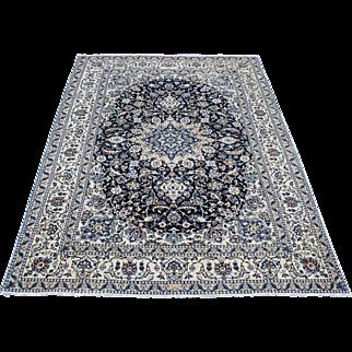 6.5'x9.7' Nain Persian handmade Oriental Persian Rug