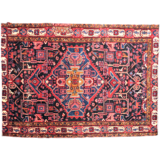 5.1′ X 8.10′ Shiraz, persian, vintage,hand-knotted, oriental rug