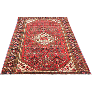 5.2′ X 8.8′ Shiraz, persian, vintage,hand-knotted, oriental rug