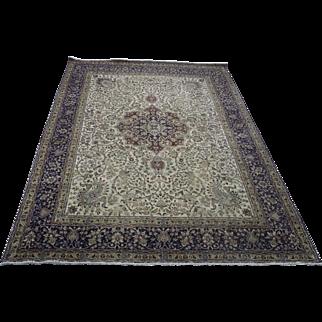 9.9′ X 13.1′ Persian Tabriz, hand-knotted, wool, oriental rug