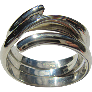Sterling Silver Unisex Artisan Band - Two Rings in One