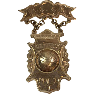 WCTU Woman's Christian Temperance Union Oratorical Prize 10K Gold Medal Pin