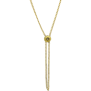 Antique Victorian Rolled Gold Slide Chain Necklace