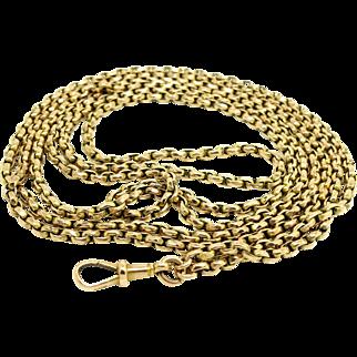 Antique Victorian 9ct Belcher Albert Long Guard Chain Necklace