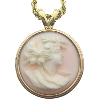 Hand-Carved Cameo Necklace