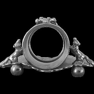19th Century, Wilcox,  Fox Napkin Ring