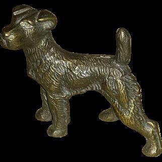 Vintage, Hubley, Wire Fox Terrier,  Paperweight