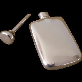 Vintage Perfume Flask, Sterling