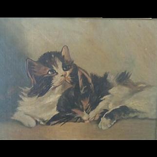 Victorian Kitten Original Painting