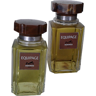 EQUIPAGE HERMES Paris, 2 vintage factice bottles